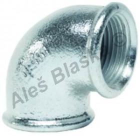 Koleno 90° FF pozinkované (vnitřní závit) GEBO Platinum - POZINK