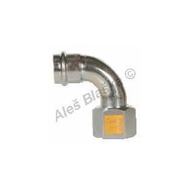 uhlík.ocel koleno 90°přechodové s vnitřním závitem FxFil.F , lisovací, PRESS, C-STEEL GAS (plyn)
