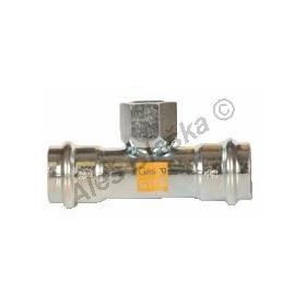 uhlík.ocel T-kus přechodový s vnitřním závitem FxFil.FxF , lisovací, PRESS, C-STEEL GAS (plyn)