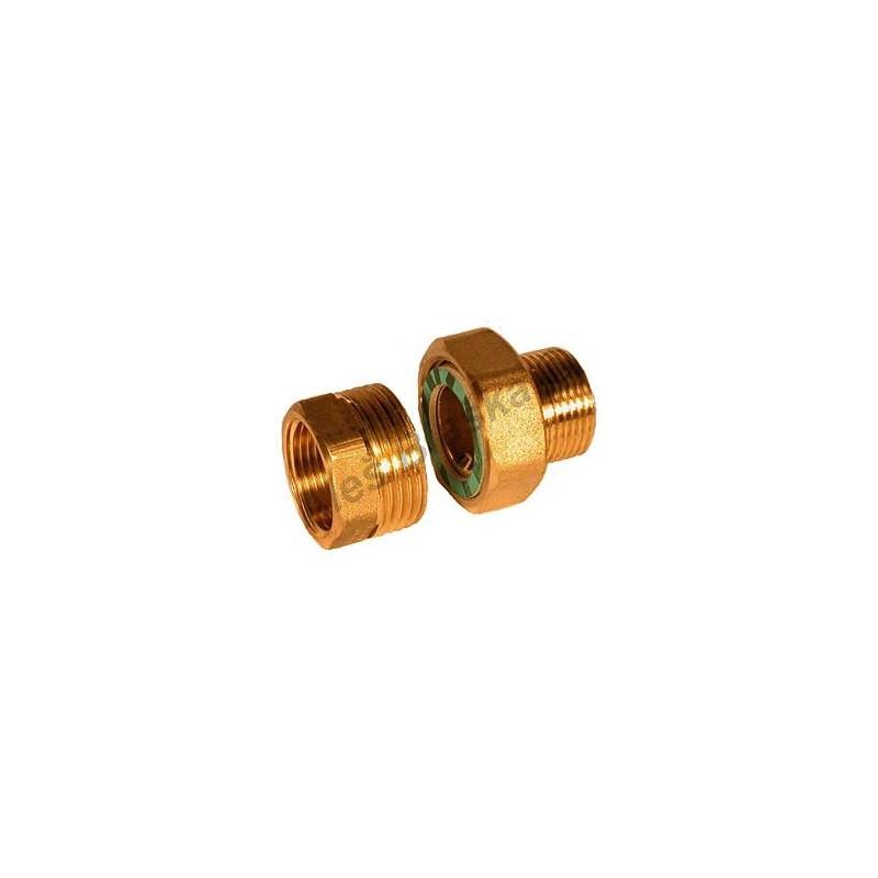 Radiátorové šroubení přímé mosazné (k radiátoru-topenářské) - MOSAZ (holendr)