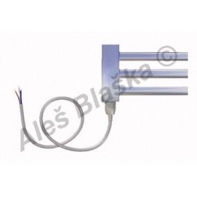 CS.E levý/pravý Elektrický koupelnový radiátor (žebřík) rovný CHROM