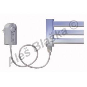 CM.ER levý Elektrický koupelnový radiátor (žebřík) prohnutý CHROM