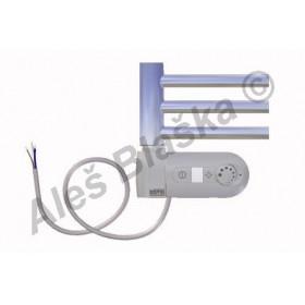 DC.ERK levý Elektrický koupelnový radiátor (žebřík) prohnutý CHROM