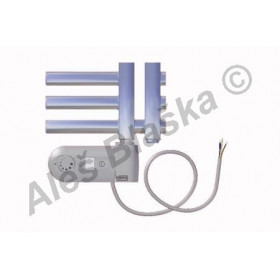 KR.ERK levý Elektrický koupelnový radiátor (žebřík) rovný metalická stříbrná