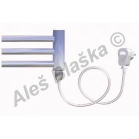DC.ES pravý Elektrický koupelnový radiátor (žebřík) prohnutý CHROM