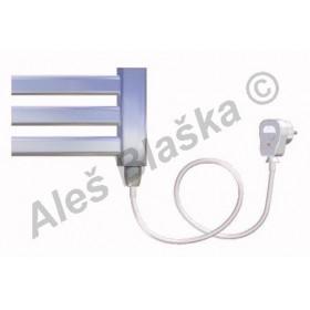 CM.ES pravý Elektrický koupelnový radiátor (žebřík) prohnutý CHROM