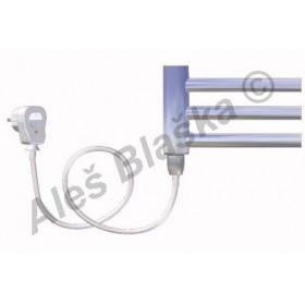 DC.ES levý Elektrický koupelnový radiátor (žebřík) prohnutý CHROM