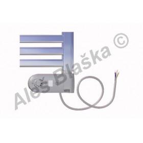 CM.ERK pravý Elektrický koupelnový radiátor (žebřík) prohnutý CHROM