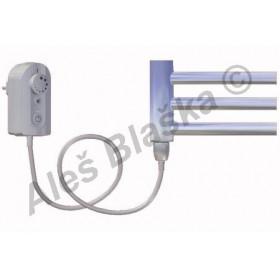 DC.ER levý Elektrický koupelnový radiátor (žebřík) prohnutý CHROM