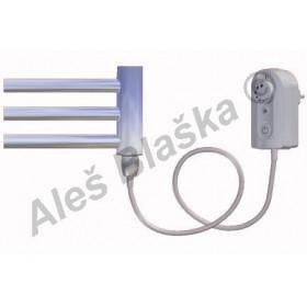 DC.ER pravý Elektrický koupelnový radiátor (žebřík) prohnutý CHROM