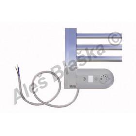 CS.ERK levý Elektrický koupelnový radiátor (žebřík) rovný CHROM