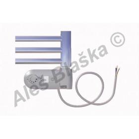 DC.ERK pravý Elektrický koupelnový radiátor (žebřík) prohnutý CHROM