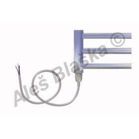 SNC.E levý Elektrický koupelnový radiátor (žebřík) rovný CHROM