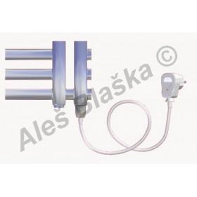 KR.ES pravý Elektrický koupelnový radiátor (žebřík) rovný metalická stříbrná
