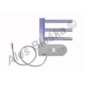 SNC.ERK levý Elektrický koupelnový radiátor (žebřík) rovný CHROM