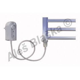 SNC.ER levý Elektrický koupelnový radiátor (žebřík) rovný CHROM