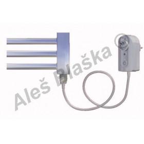 CS.ER levý/pravý Elektrický koupelnový radiátor (žebřík) rovný CHROM