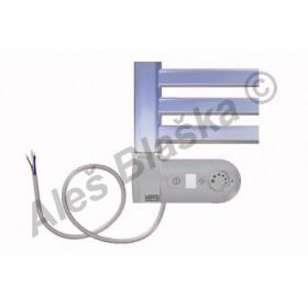 CM.ERK levý Elektrický koupelnový radiátor (žebřík) prohnutý CHROM