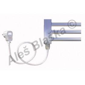 CS.ES levý/pravý Elektrický koupelnový radiátor (žebřík) rovný CHROM