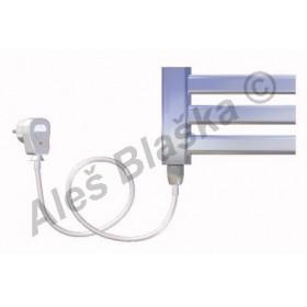 CM.ES levý Elektrický koupelnový radiátor (žebřík) prohnutý CHROM