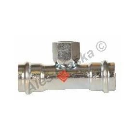 uhlík.ocel T-kus přechodový s vnitřním závitem FxFil.FxF , lisovací, PRESS, C-STEEL