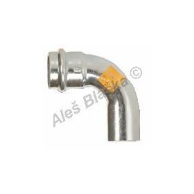 uhlík.ocel oblouk (koleno) 90° MxF , lisovací, PRESS, C-STEEL GAS (plyn)