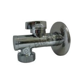 """Rohový kulový kohout (ventil) pračkový 1/2""""x3/4"""" s filtrem (roháček)"""