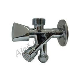 Kombinovaný rohový ventil (pračkoroháček) k pračce myčce