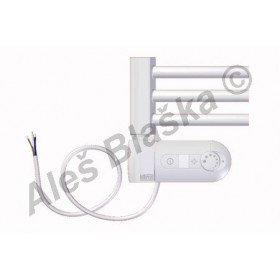 BKO.ERK levý Elektrický koupelnový radiátor (žebřík) prohnutý bílý