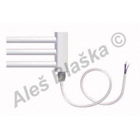BKO.E pravý Elektrický koupelnový radiátor (žebřík) prohnutý bílý