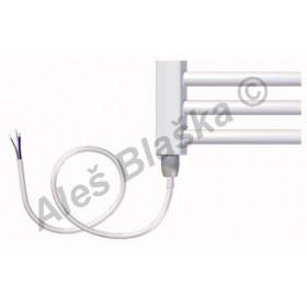 BKO.E levý Elektrický koupelnový radiátor (žebřík) prohnutý bílý