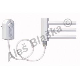 BKO.ER levý Elektrický koupelnový radiátor (žebřík) prohnutý bílý