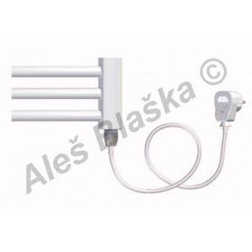 BKO.ES pravý Elektrický koupelnový radiátor (žebřík) prohnutý bílý