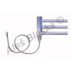 CB.E levý Elektrický koupelnový radiátor prohnutý CHROM - žebřík