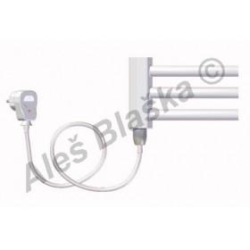 BKO.ES levý Elektrický koupelnový radiátor (žebřík) prohnutý bílý