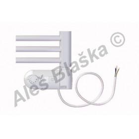 BKO.ERK pravý Elektrický koupelnový radiátor (žebřík) prohnutý bílý
