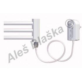 BKO.ER pravý Elektrický koupelnový radiátor prohnutý bílý