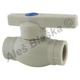PPR kulový kohout (ventil) s plastovou pákou plastový tvarovka navařovací