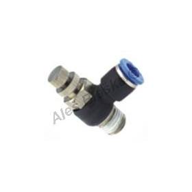 Pneumatická nástrčná spojka rychloovladač ESLB rohový vstupní na vzduch (rychlospojka)