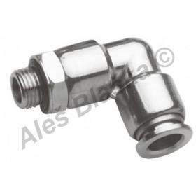 Pneumatická nástrčná spojka úhlová MPL (kolínko) vnější závit kov na vzduch (rychlospojka)