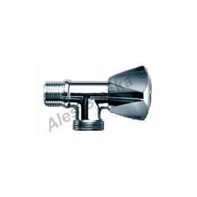 """Rohový pračkový ventil 1/2""""x3/4"""" s funkcí zpětného ventilu (roháček k pračce)"""