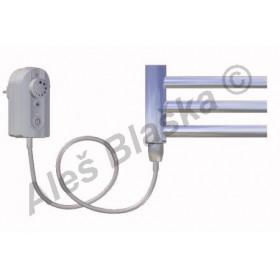 CB.ER levý Elektrický koupelnový radiátor prohnutý CHROM - žebřík