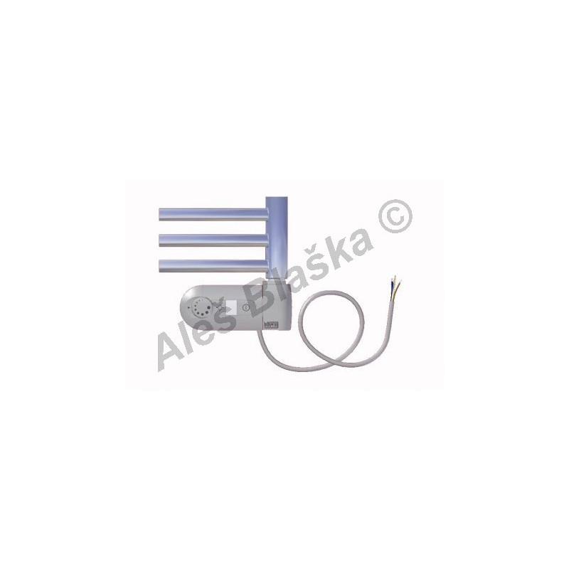 CB.ERK pravý Elektrický koupelnový radiátor prohnutý CHROM - žebřík