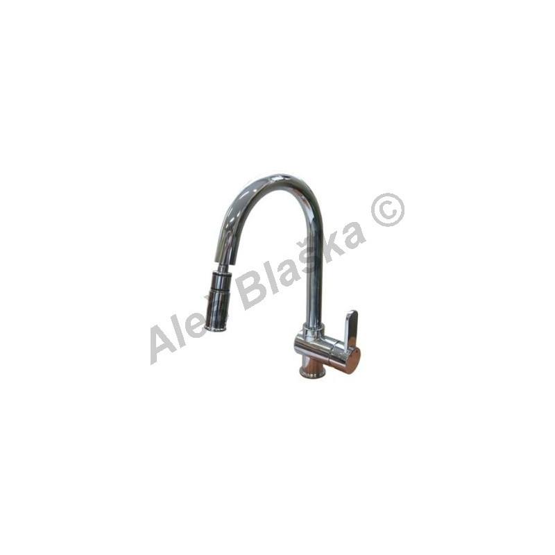 WATT WA 1004 vodovodní páková baterie stojánková dřezová s výsuvnou sprchou (vytahovací sprškou)