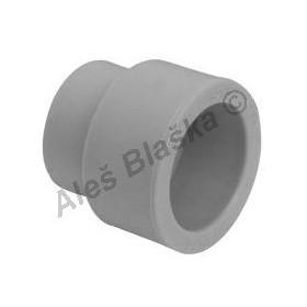 PPR nátrubek redukovaný F/F (hrdlo redukované, mufna) tvarovka plastová navařovací