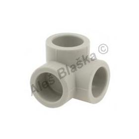PPR koleno rohové F/F/F 3cestné (t kus rohový) tvarovka plastová navařovací