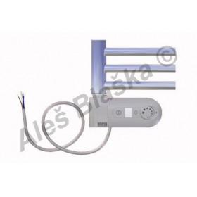 CB.ERK levý Elektrický koupelnový radiátor prohnutý CHROM - žebřík