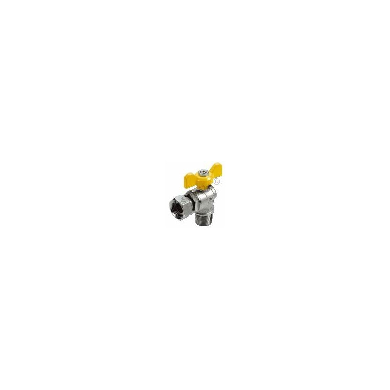 Kulový kohout (ventil) na plyn motýl rohový převlečná matice (plynový)