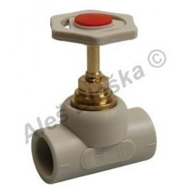 PPR ventil uzavírací s plastovým kolečkem tvarovka plastová navařovací
