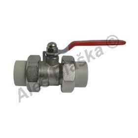 PPR kulový kohout (ventil) rozebiratelný s pákou plastový tvarovka navařovací